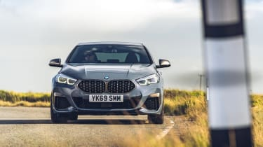 BMW M235i Gran Coupe saloon front cornering