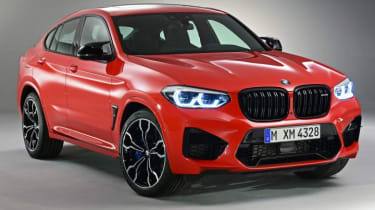 BMW X4M in red