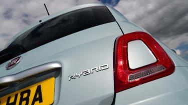 Fiat 500 mild hybrid rear lights