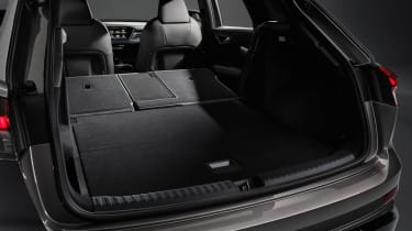 2021 Audi Q4 e-tron SUV rear seats folded