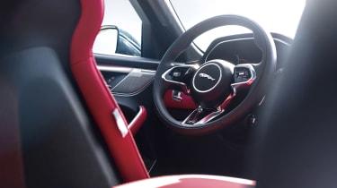 Jaguar F-Pace SUV steering wheel
