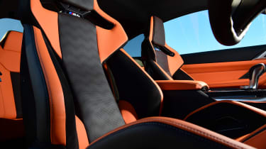 BMW M4 Coupe front seats