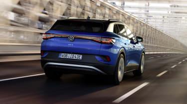 2021 Volkswagen ID.4 driving - rear view