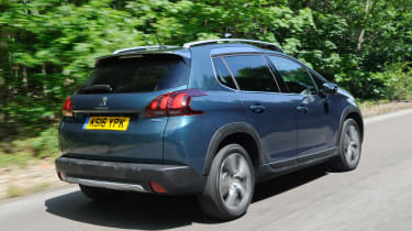 Facelifted, it wears Peugeot's distinctive SUV look at the front, and follows hatchback styling cues at the rear