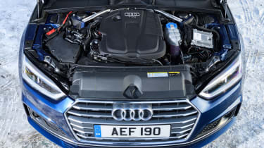 Petrol and diesel engines are both available in 2.0-litre or 3.0-litre guises, with power of up to 349bhp