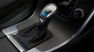 Sporty R-Design versions of the Volvo V60 have alloy pedals