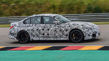 2020 BMW M3 saloon prototype - side on view passing