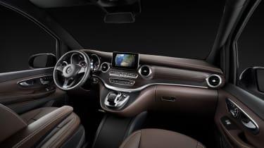 Die neue Mercedes-Benz V-Klasse – Interieur, Leder Nappa maronThe new Mercedes-Benz V-Class – Interior, marron nappa leather