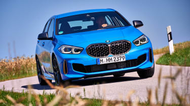 BMW M135i cornering - front