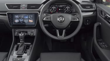 2019 Skoda Superb facelift - dashboard view from driver's seat