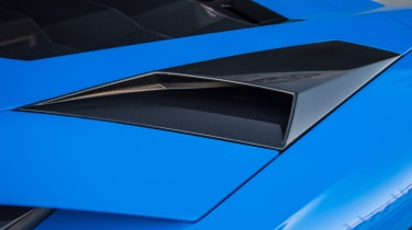 By the standards of some previous Lamborghinis, though, the design of the intakes is fairly subtle