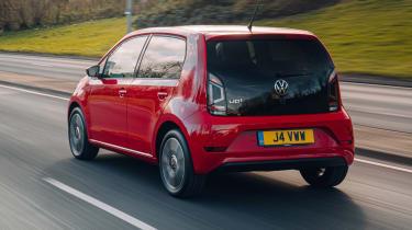 Volkswagen up! hatchback driving - rear view