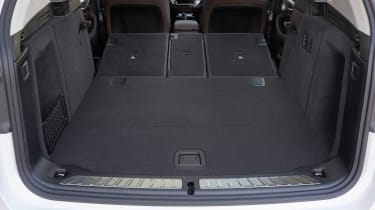 BMW iX3 SUV boot seats folded