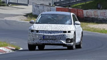 Hyundai 45 SUV spotted testing - front view