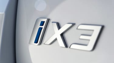 BMW iX3 SUV badge