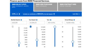 BMW finance calculator