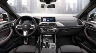 BMW X4 wide interior shot, front