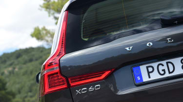 The XC60 still has a characteristic Volvo rear end, with pronounced shoulders