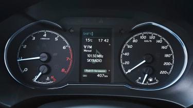 Toyota Yaris dials