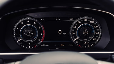 VW's attractive and useful Active Info Display replaces physical dials on some models.