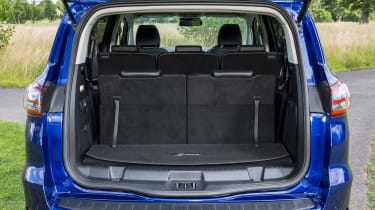 With all seats in place and filled to the roof, the boot can hold 285 litres.