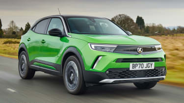 Vauxhall Mokka-e driving - front