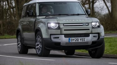 Land Rover Defender SUV front cornering