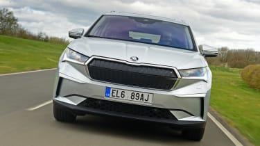 Skoda Enyaq iV SUV front tracking