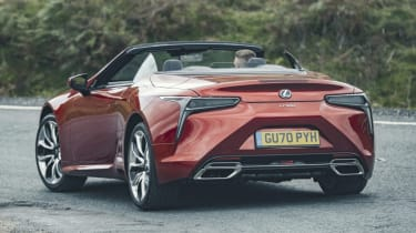 Lexus LC Convertible rear cornering