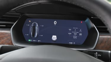Tesla Model S saloon instrument cluster