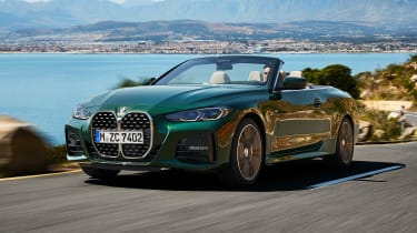 2020 BMW 4 Series Convertible driving - front view