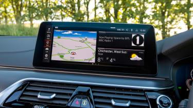 BMW 5 Series saloon infotainment display
