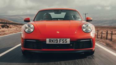 Porsche 911 coupe front action