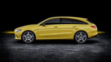 2019 Mercedes CLA Shooting Brake - side view