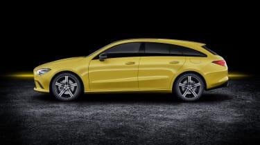 2019 Mercedes CLA Shooting Brake - side view