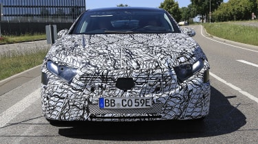 Mercedes EQS spotted testing