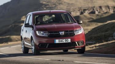 Dacia Sandero hatchback front cornering