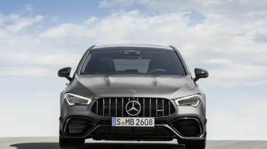 2019 Mercedes-AMG CLA 45 S Shooting Brake - front on static view