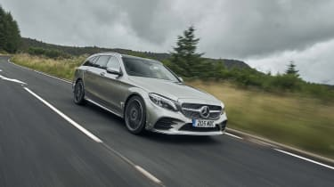 Mercedes C-Class Estate front 3/4 driving