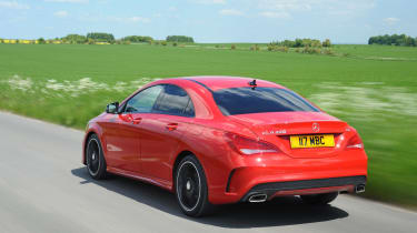 The CLA takes inspiration from the larger, E-Class-based Mercedes CLS