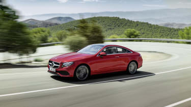 The E220d is the only diesel E-Class Coupe model available, and it's expected to be a big seller