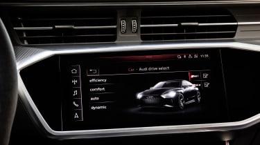 Audi RS7 infotainment screen