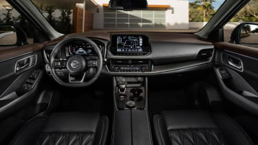 Nissan Rogue (X-Trail) interior - black upholstery