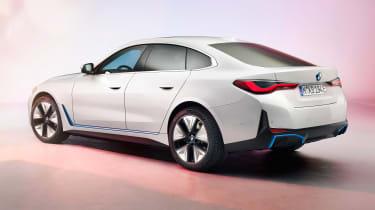 2021 BMW i4 - rear 3/4 view