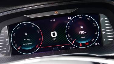 Skoda Octavia vRS hatchback instrument display