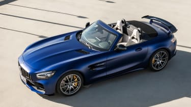 Mercedes-AMG GT R Roadster static roof stowed