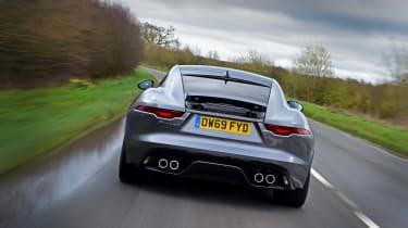 Jaguar F-Type coupe rear