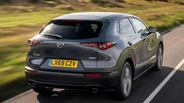 Mazda CX-30 SUV rear 3/4 tracking