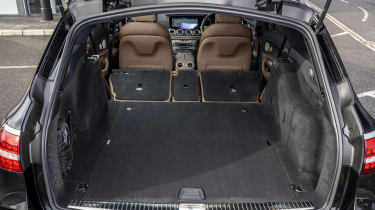 Facelifted Mercedes E-Class estate boot - seats down