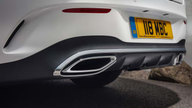 Mercedes CLA saloon tailpipes